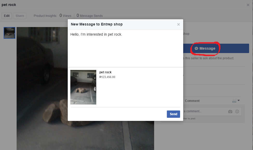 """Clients May Click On """"Message"""" To Inquire With You."""