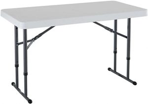 Lifetime 4 foot commercial adjustable height folding table